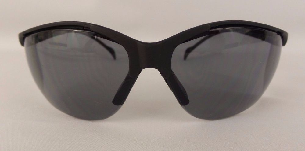 0b627ee756ae PYRAMEX Safety Glasses Sunglasses Venture II Black Smokey Lens High Impact   PYRAMEX
