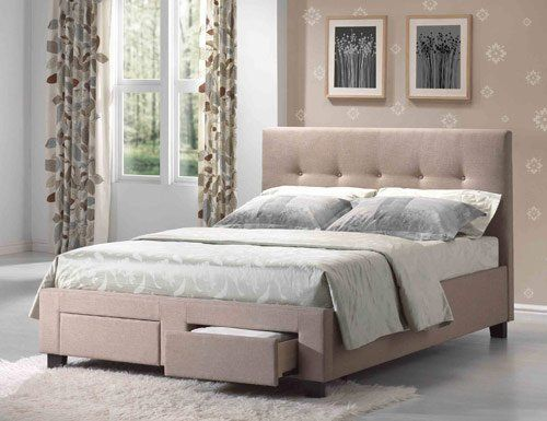 tufted upholstered bed with drawers bed Pinterest Drawers