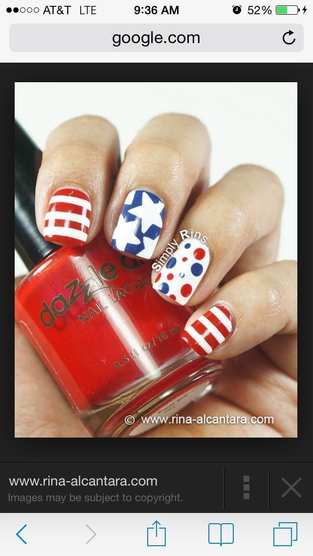 cool Best 12 Simple July 4th Nail Design Ideas – Patriot Day New ...