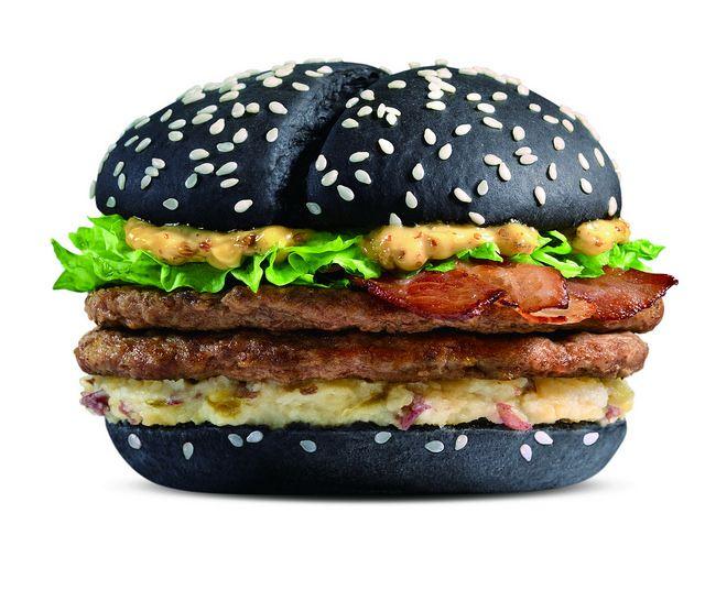 Mcdonald S Black White Burger Food Burger Food Innovation