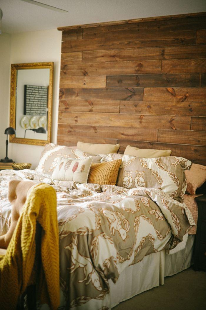 1001 ideas de cabeceros originales que pueden adornar tu - Cabeceros originales de madera ...