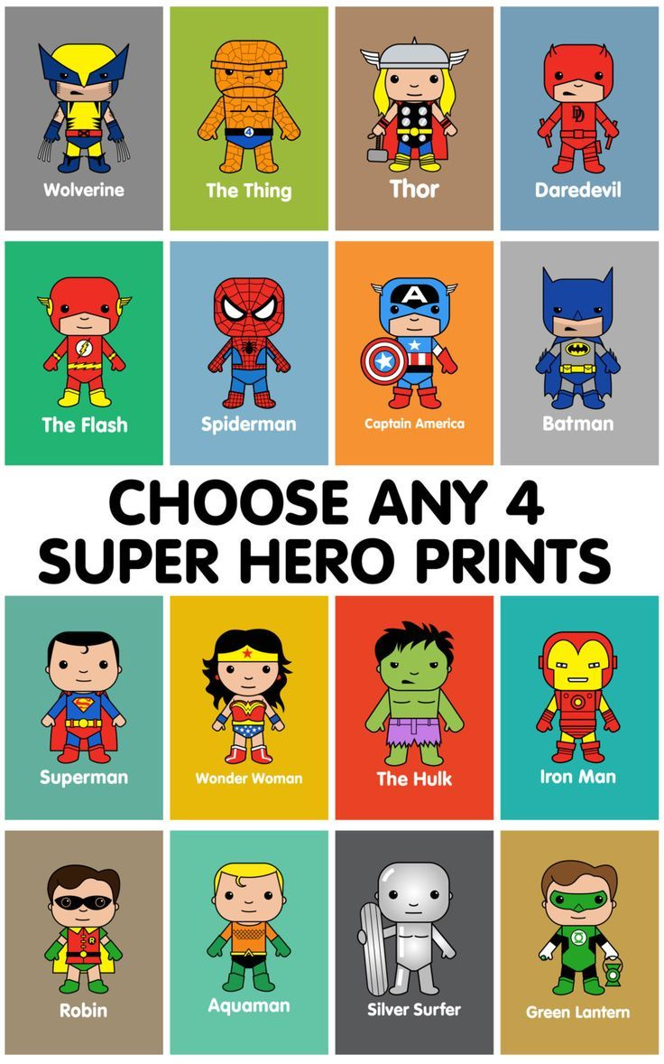 Super Hero wall art, kids wall art, Batman, Superman, Spiderman, Marvel nursery, Thor, Captain America, Hulk, Iron Man, Wolverine, by MiniHeroes on Etsy https://www.etsy.com/listing/198653669/super-hero-wall-art-kids-wall-art-batman