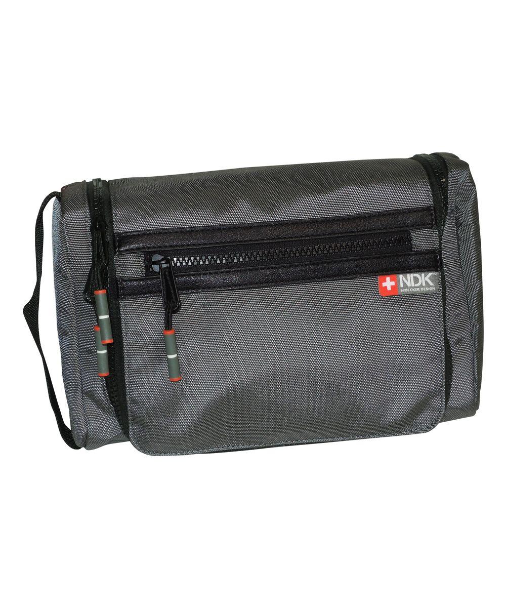 Gray Capital Collection Hanging Travel Bag