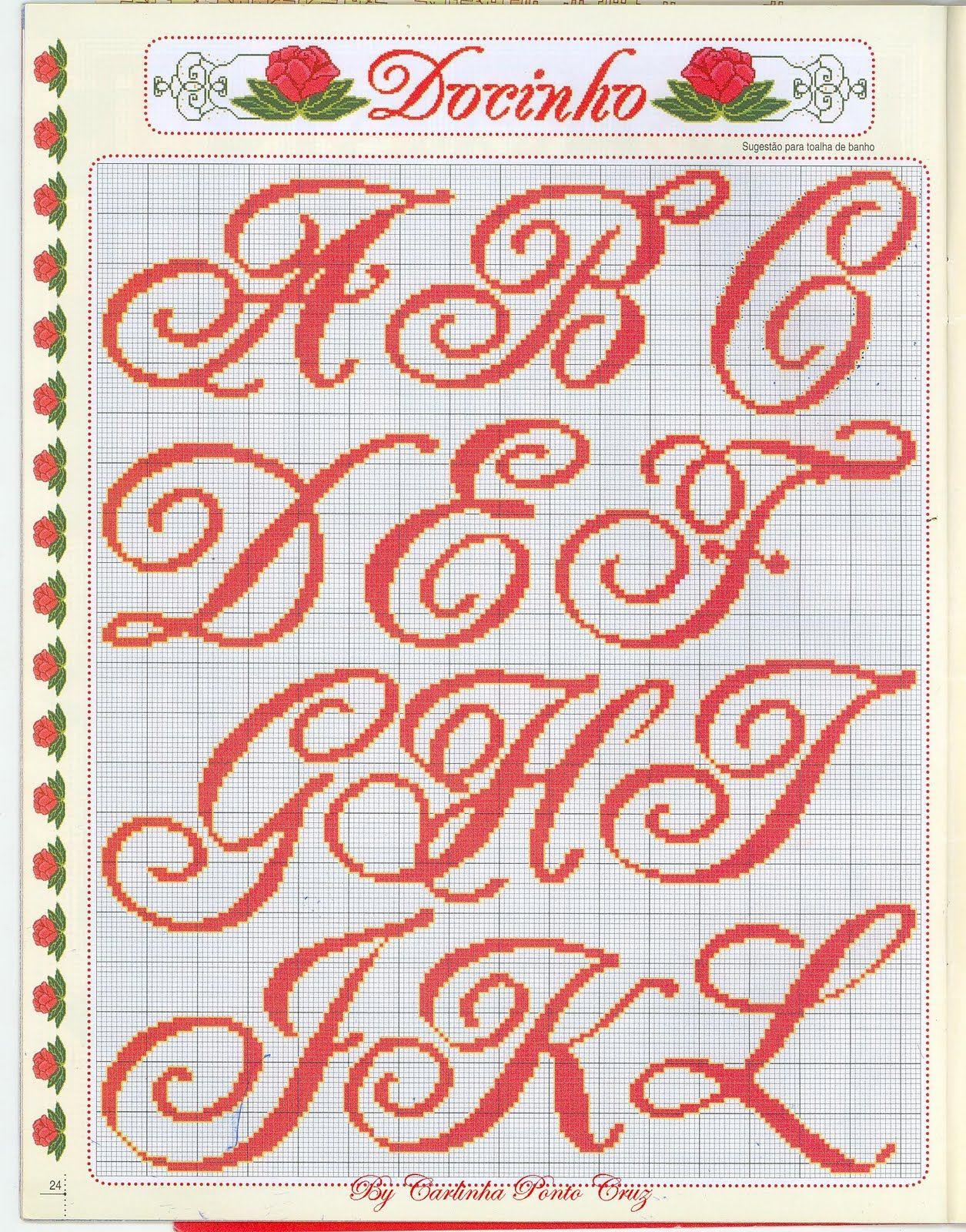 Ângela Bordados: alfabeto …   1 αλφάβητο   Pinte…