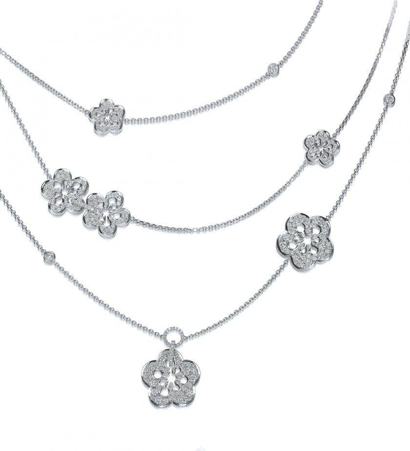 Boodles Blossom Large Diamond Necklace Diamond Jewellry Diamond Jewelry