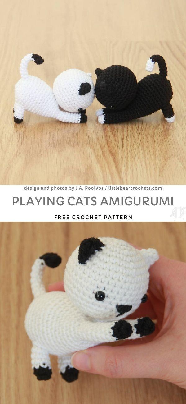Playing Cats Amigurumi Free Crochet Pattern