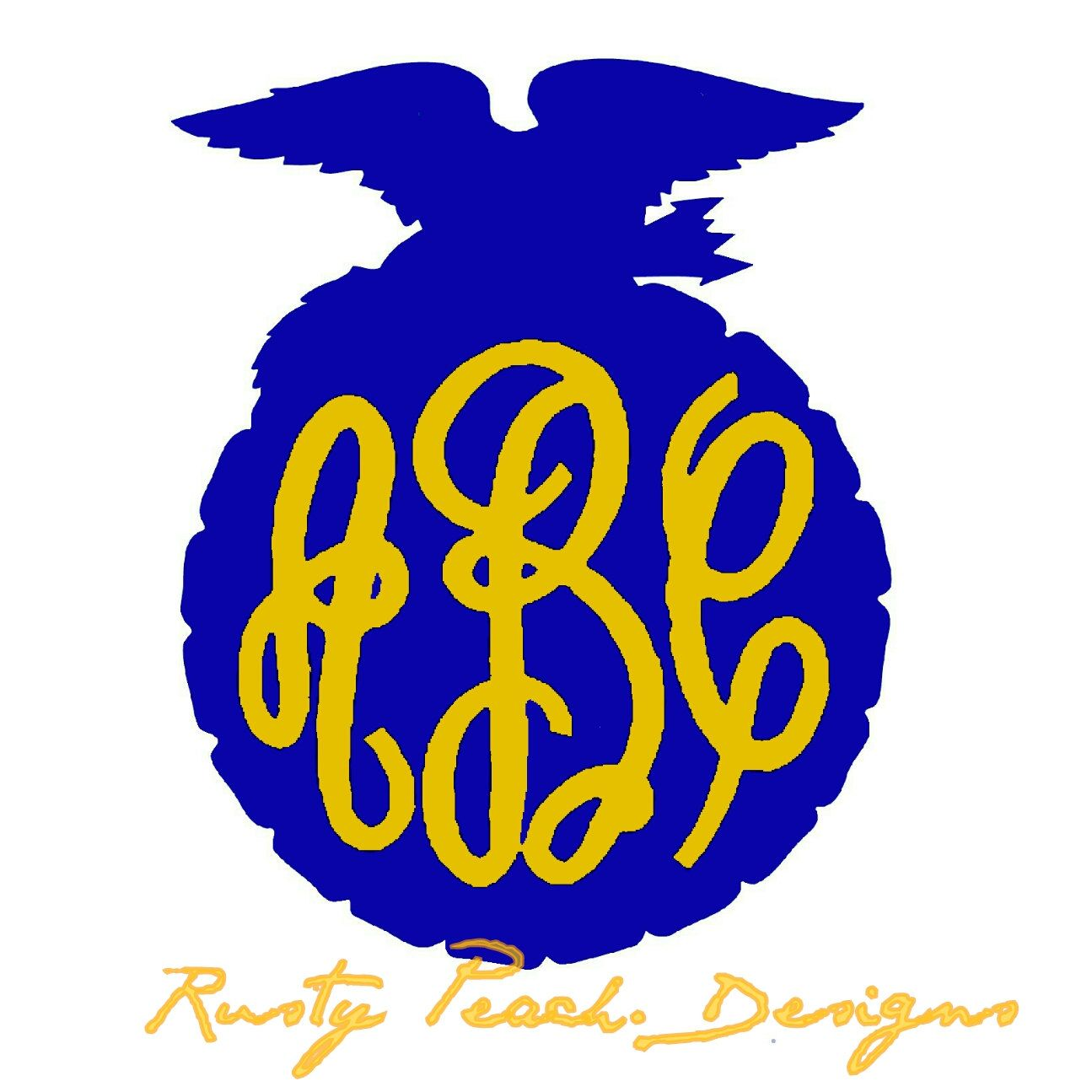 ffa monogram vinyl decal fancy font circle font future farmers rh pinterest com ffa logo vector free ffa agricultural education logo vector