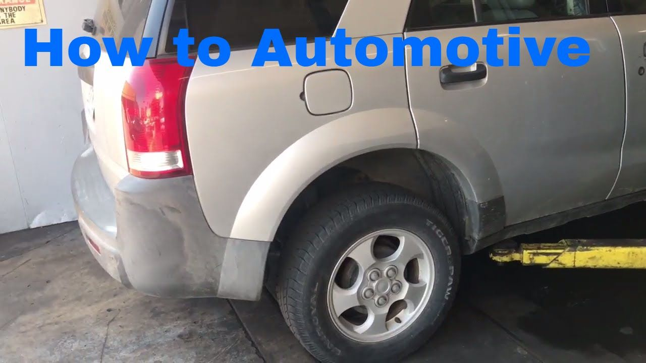 How To Replace The The Rear Wheel Bearings On A 2002 2007 Saturn Vue Car Bear