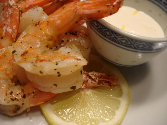 Barbecued Shrimp With Garlic Mayonnaise Recipe - Food.com