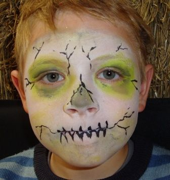 Zombie Face Painting For Plants V. Zombies Birthday Party   Party Party Party   Pinterest ...
