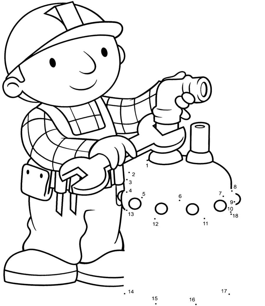Bob The Builder Fix The Tap Water Coloring Page | Why am I pinning ...
