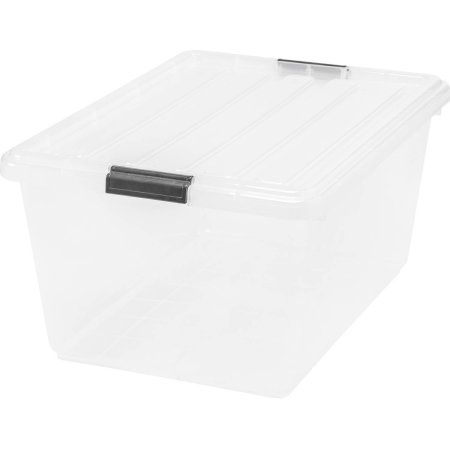 Iris 44 qt Buckle Down Storage Box, 6-Pack, Clear