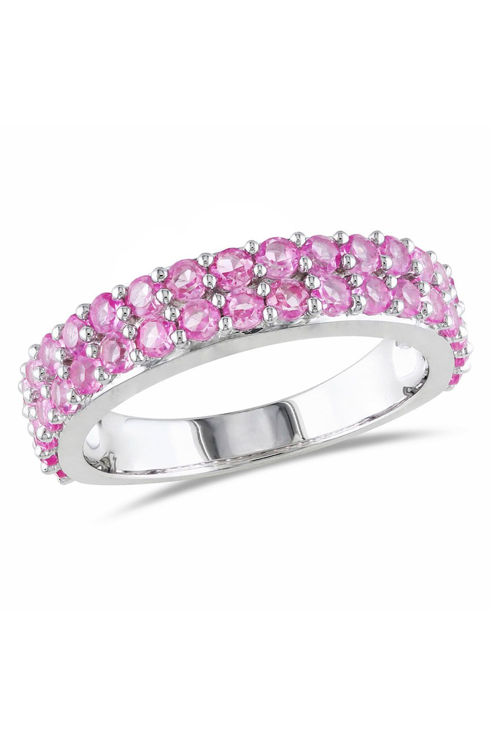 Pink Sapphire Ring In Silver.