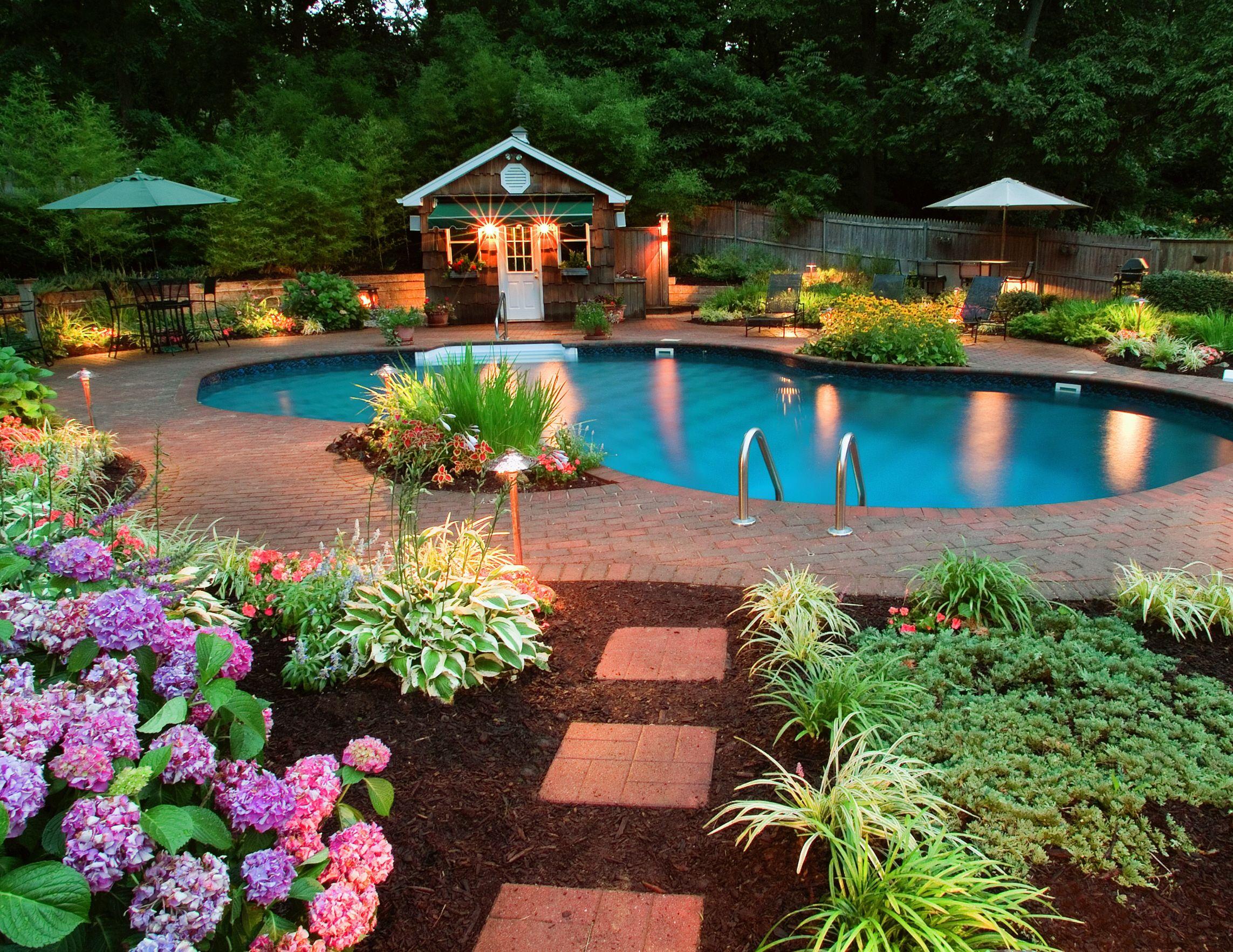 Stunning Backyard Design Backyard Pool Landscaping Pool