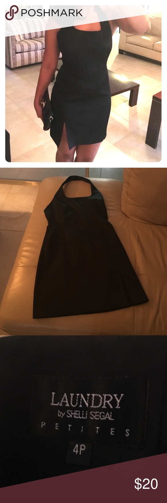 LBD Laundry Versatile in excellent condition! Black halter dress from laundry Laundry by Shelli Segal Dresses Mini