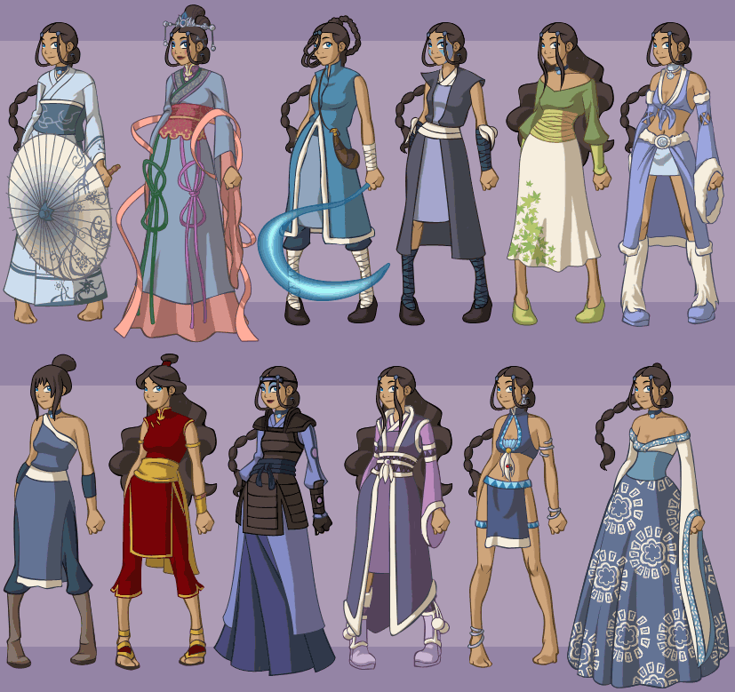 Character Design Dress Up : Katara s fan wardrobe by dressup avatar on deviantart