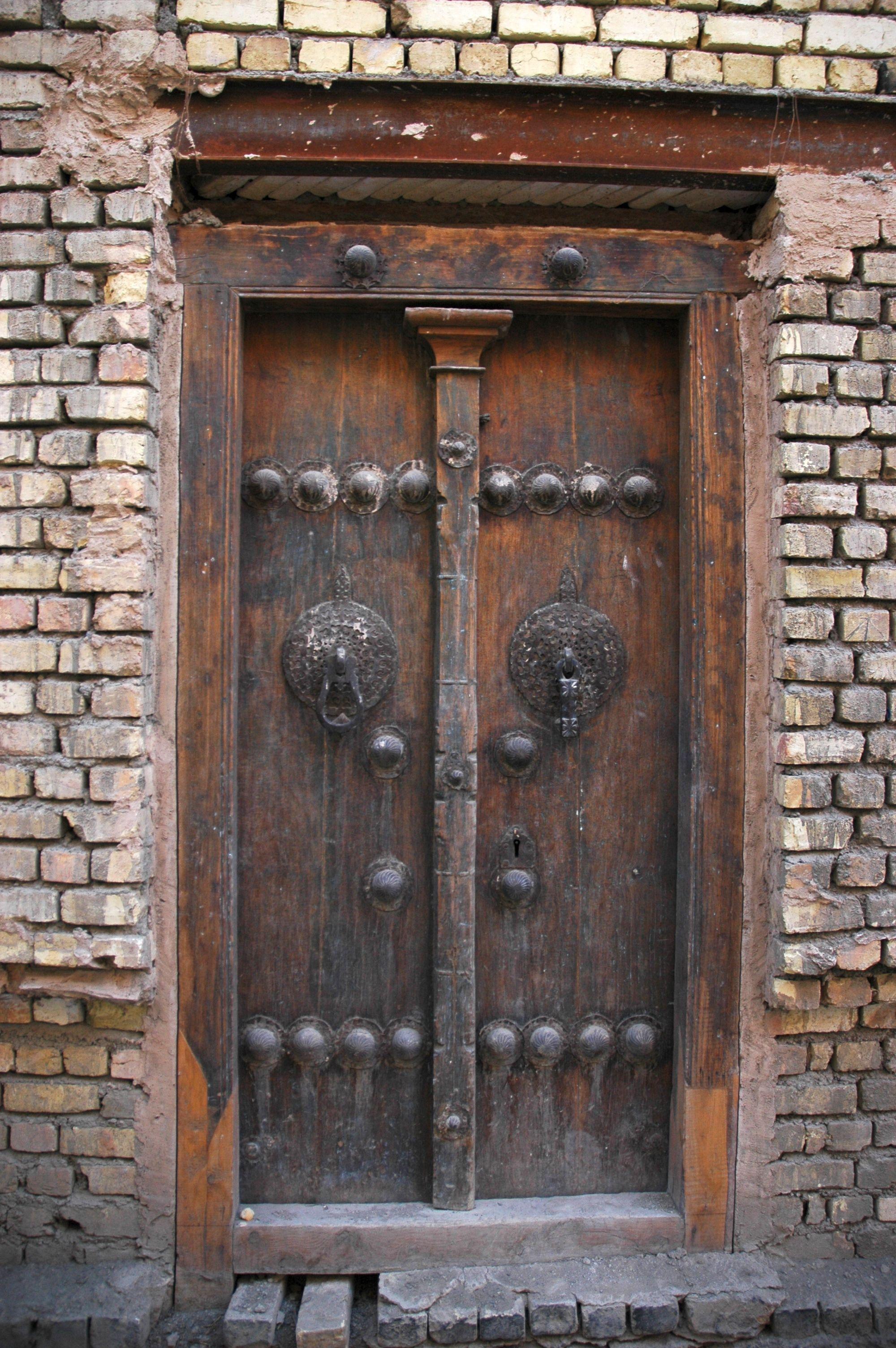 beautiful antique door iin iran. wisnh i knew the age. wood door