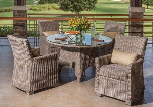 Oxford Woven Wicker Outdoor Furniture By Windward Design Group With  Coordinating Outdoor Tables. Built In Woven Cushion Make It Easy To  Maintain!