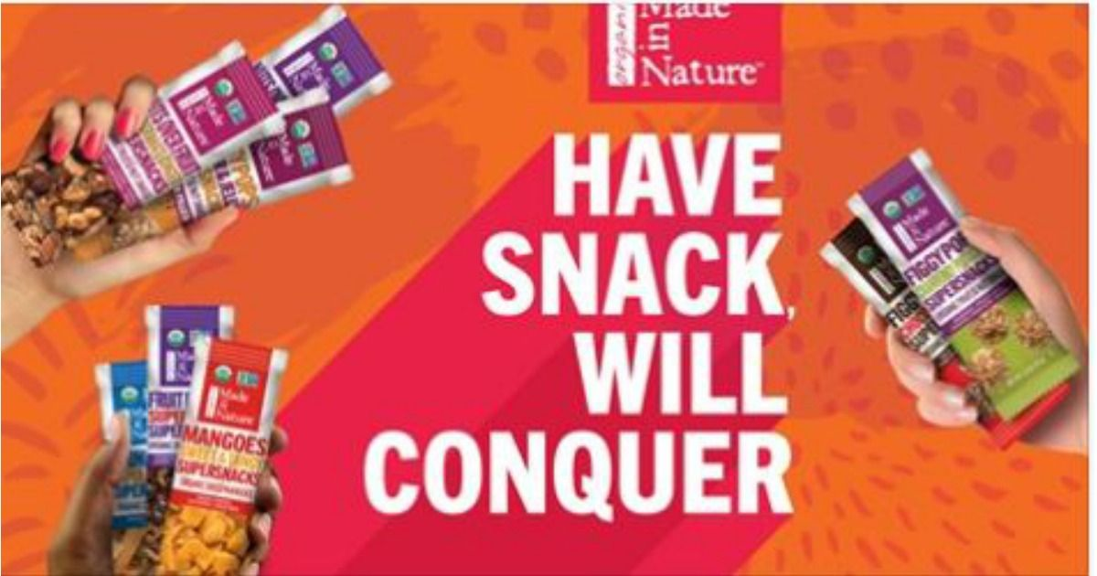 Free Made In Nature Organic Supersnack Facebook Required