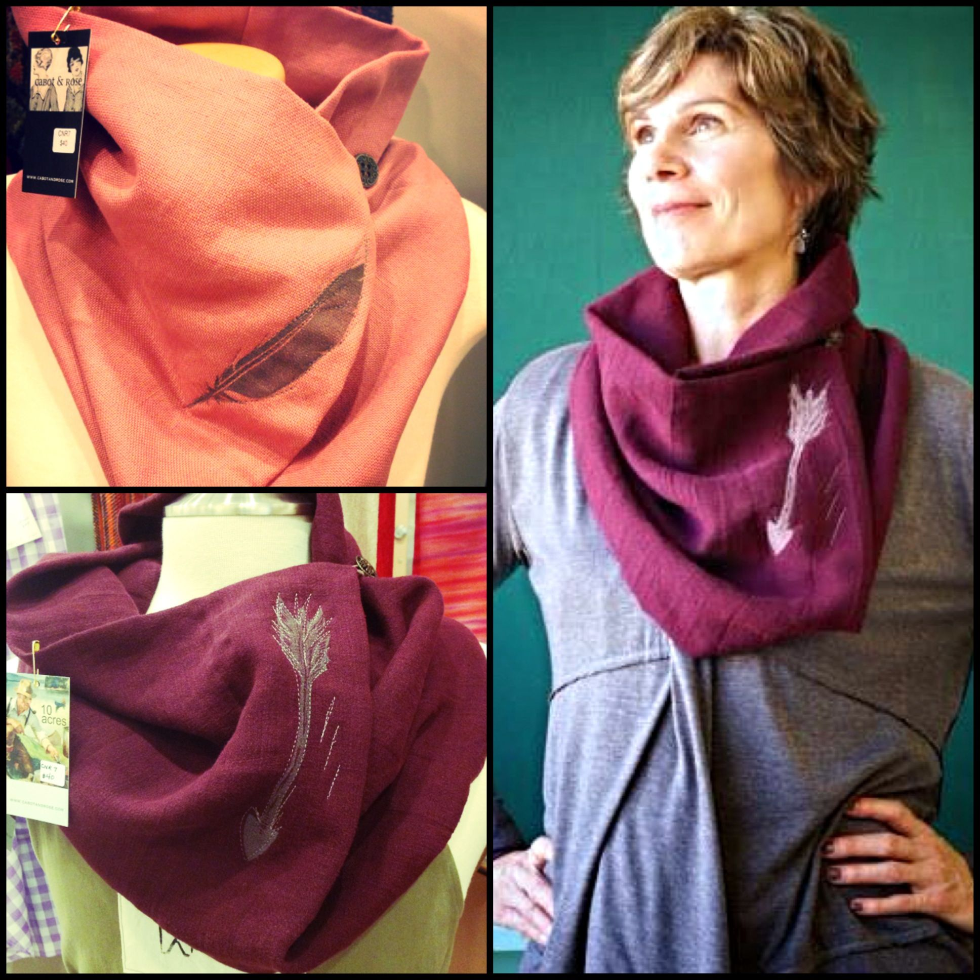 Quill & Quiver Cowls handmade by Cabot & Rose in Cape