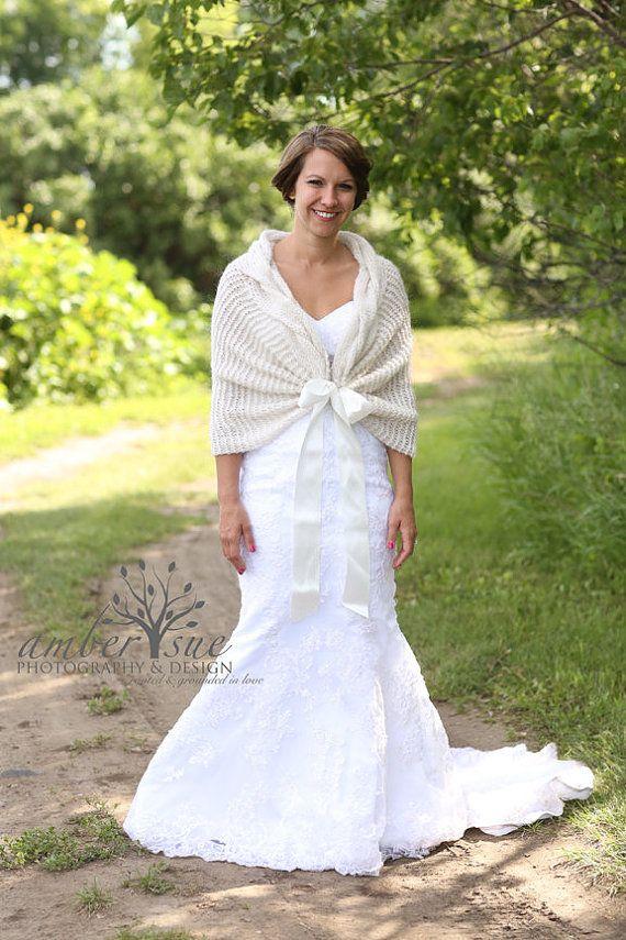 Wedding Shawl Bridal ShawlWedding Cape White By MODAcrochet