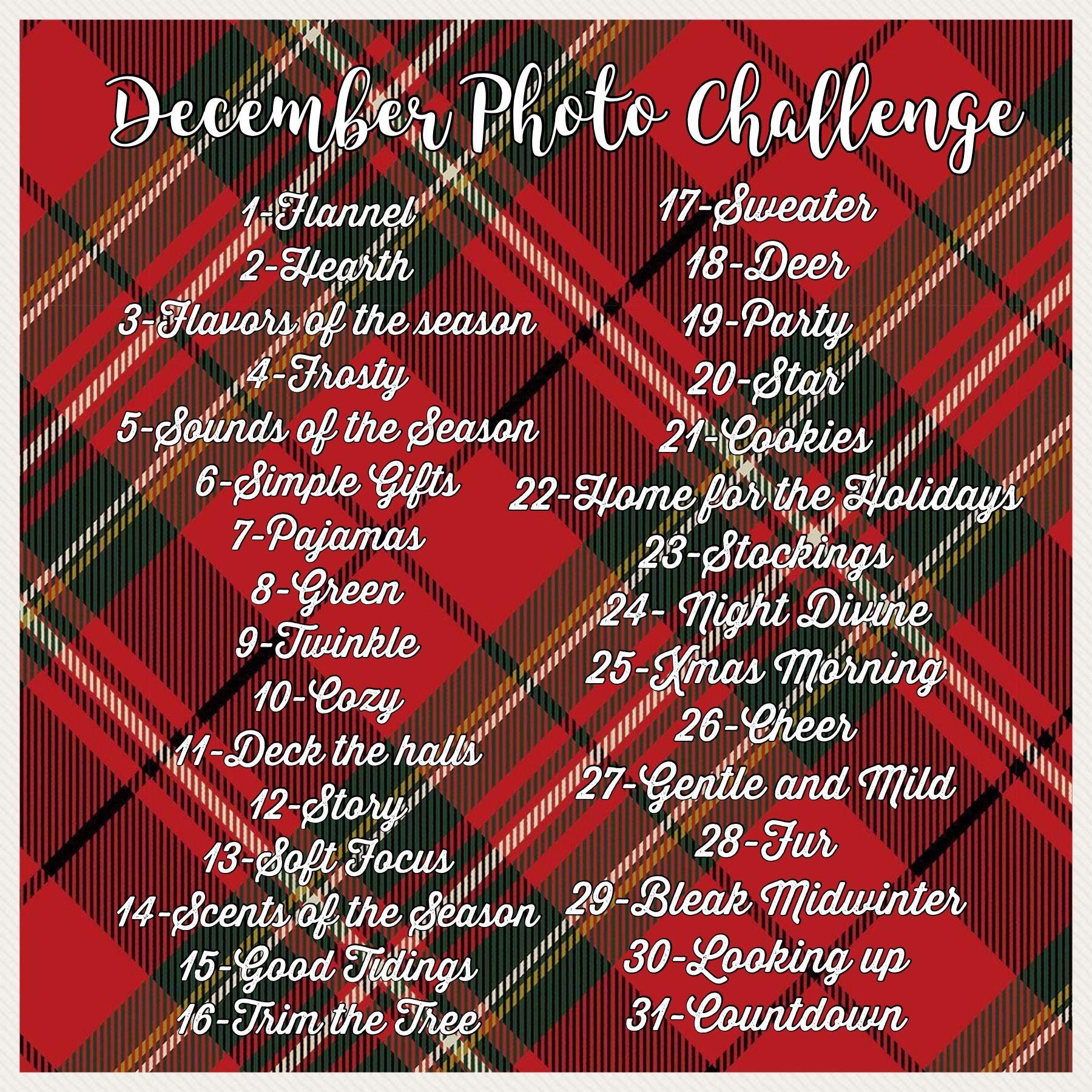 December Photo Challenge decemberphotochallenge