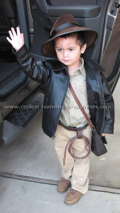 My middle son wants to be Indiana Jones ... maybe this costume will be cute  after all! This little guy is pretty adorable. 9098c77aa3f