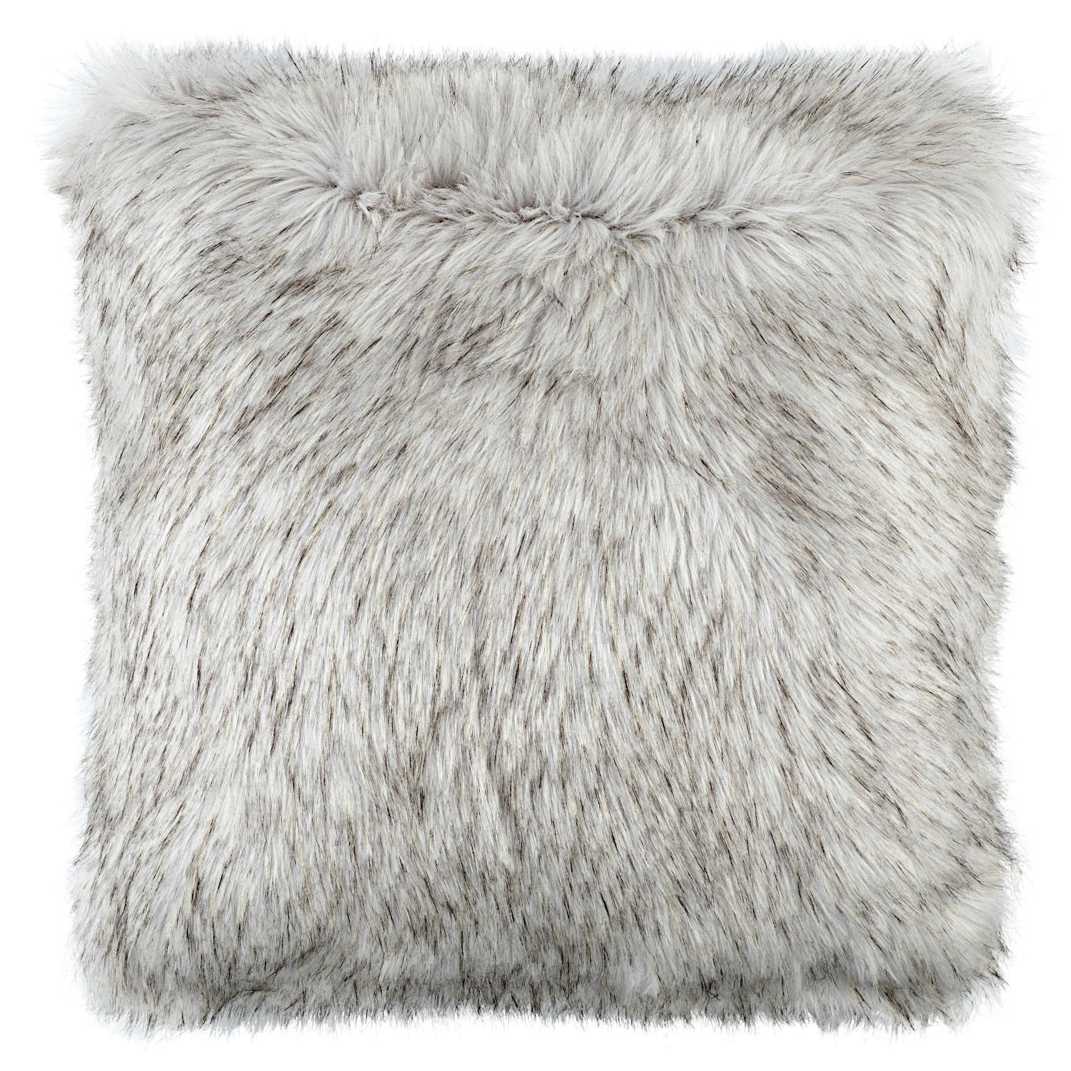 Lili Alessandra Silver Faux Fur Pillow