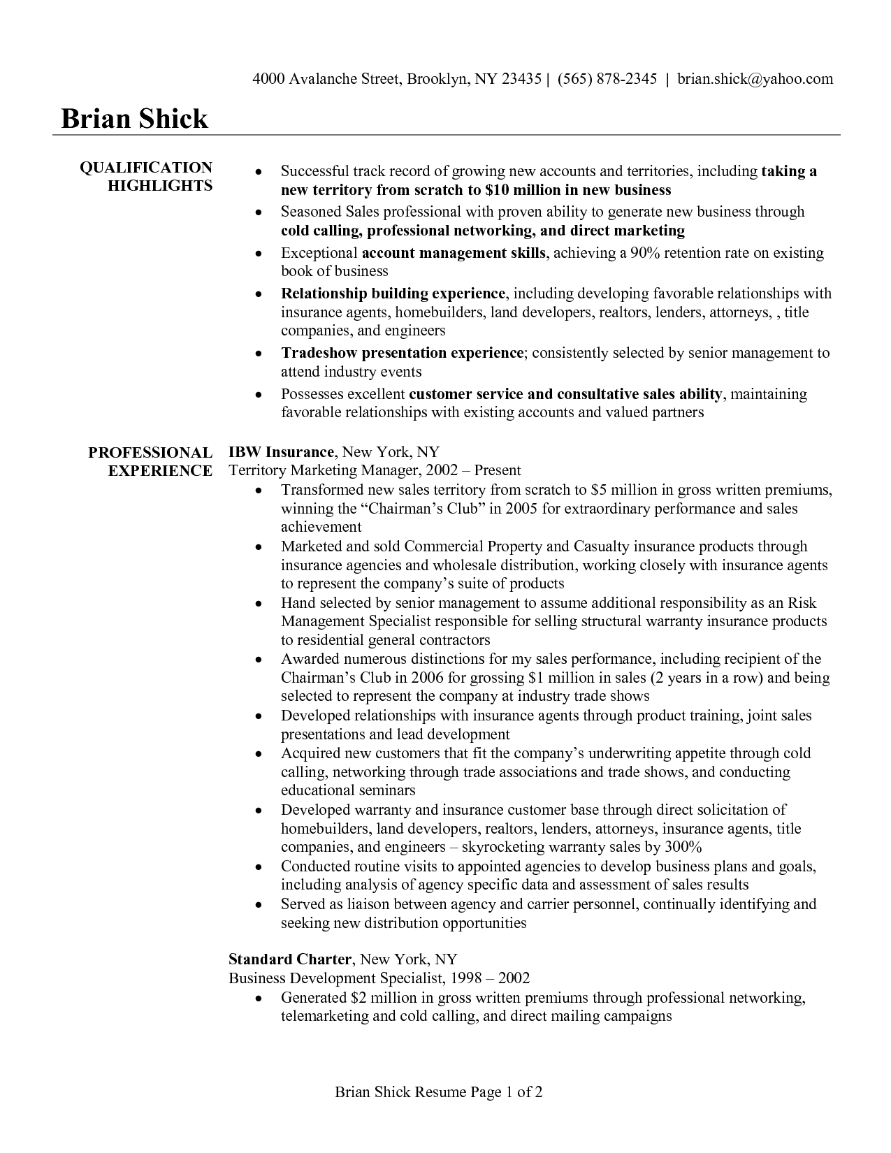 Insurance Broker Resume Life Insurance Agent Resumes Http Jobresume