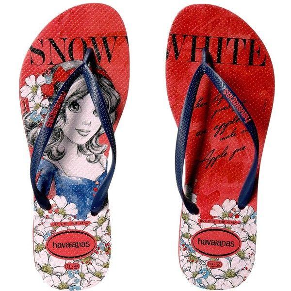 6de0c3d084b2 Havaianas Slim Princess Flip Flops (Ruby Red) Women s Sandals (105 BRL) ❤  liked on Polyvore featuring shoes