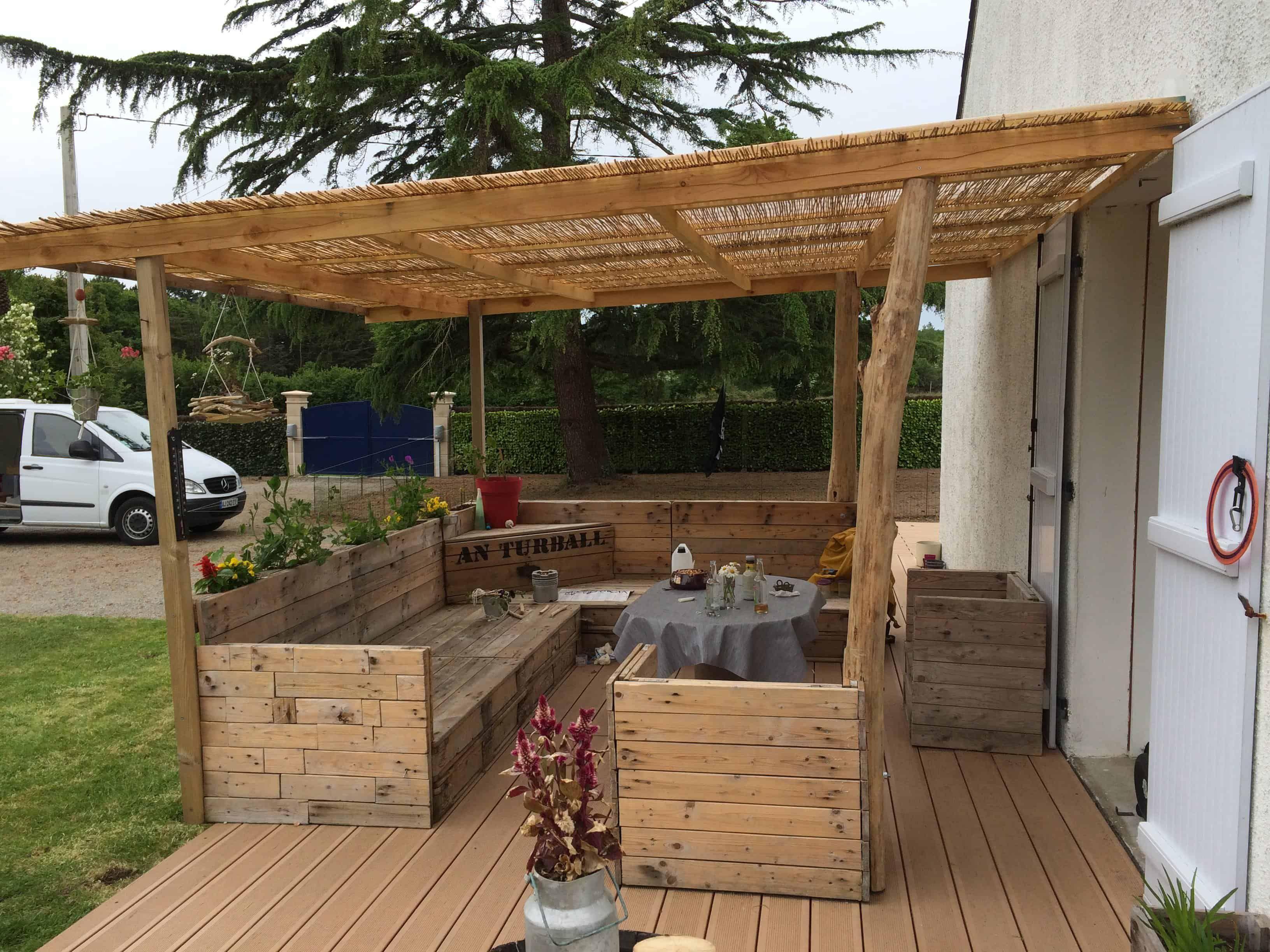 15 Pallets Garden Set | Pallet home decor, Pallet pergola ...