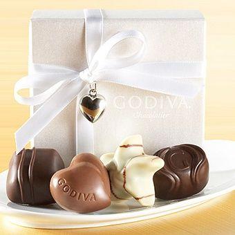Godiva Chocolate Favor.