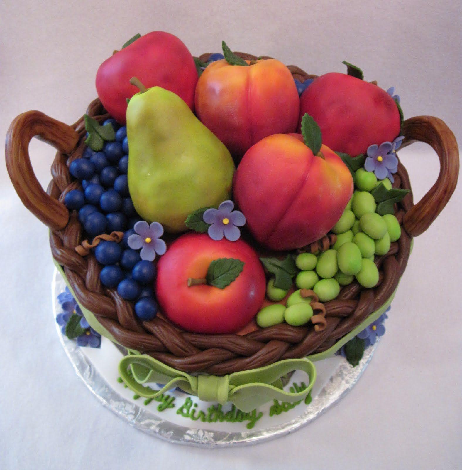 Fruit basket cake with images fruit fruit cake