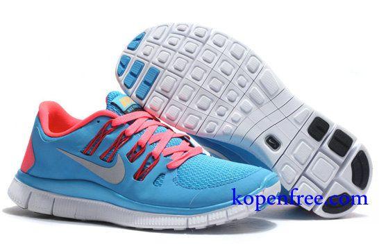 Goedkoop Schoenen Nike Free 5.0 + Dames (kleur:vamp-blauw ...