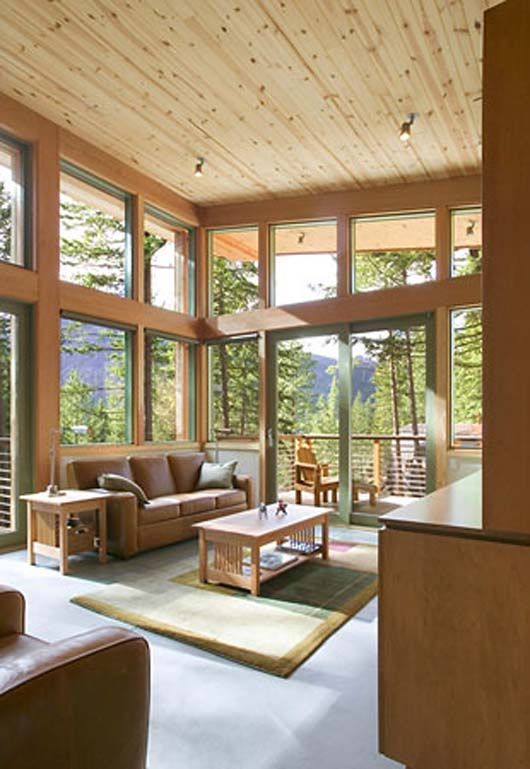 Hillside home design architecture minimalist cabin for Mountain cabin plans hillside