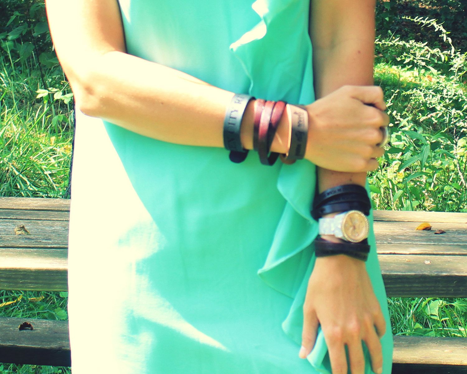 Personalized+Brown+Leather+Wrap+Bracelet+Custom+by+QueenCityRevolt,+$25.00