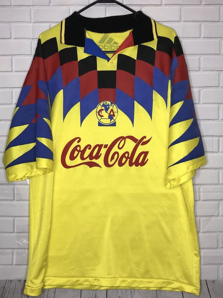 3e6aea40b CLUB AMERICA 1994 95 ADIDAS MEXICO SOCCER JERSEY FOOTBALL SHIRT XL VTG  CAMISETA