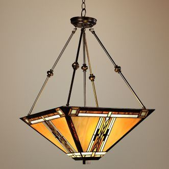 Walnut Mission Style Pendant Chandelier 43240 Lamps Plus
