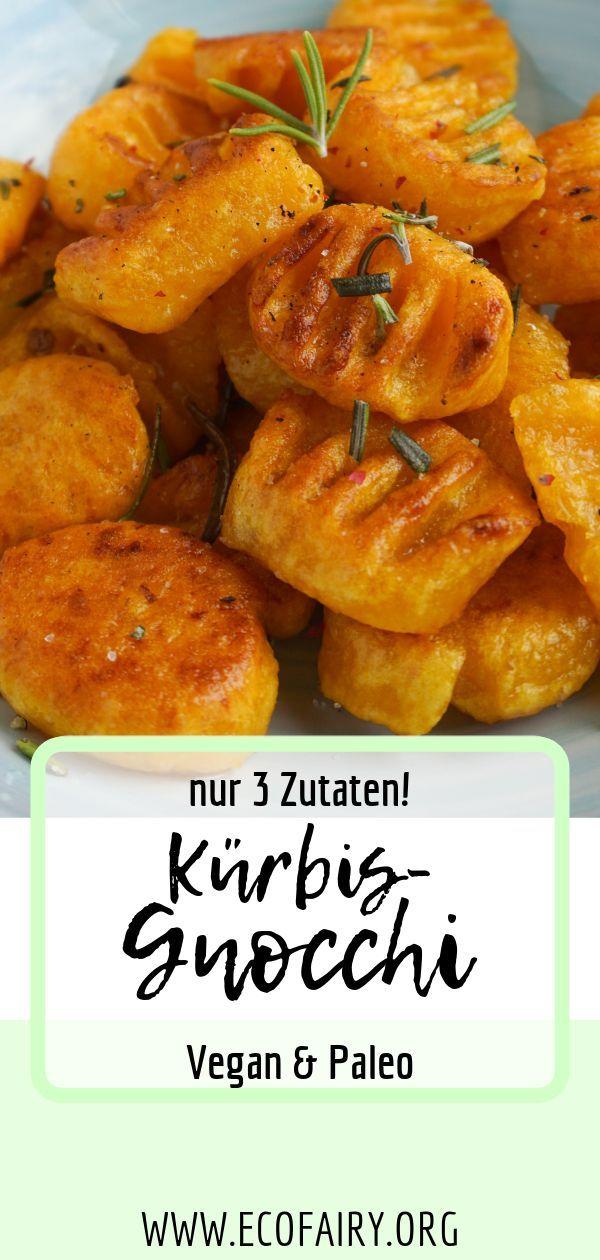 Kürbis-Gnocchi (Vegan, Paleo) #glutenfreierezepte
