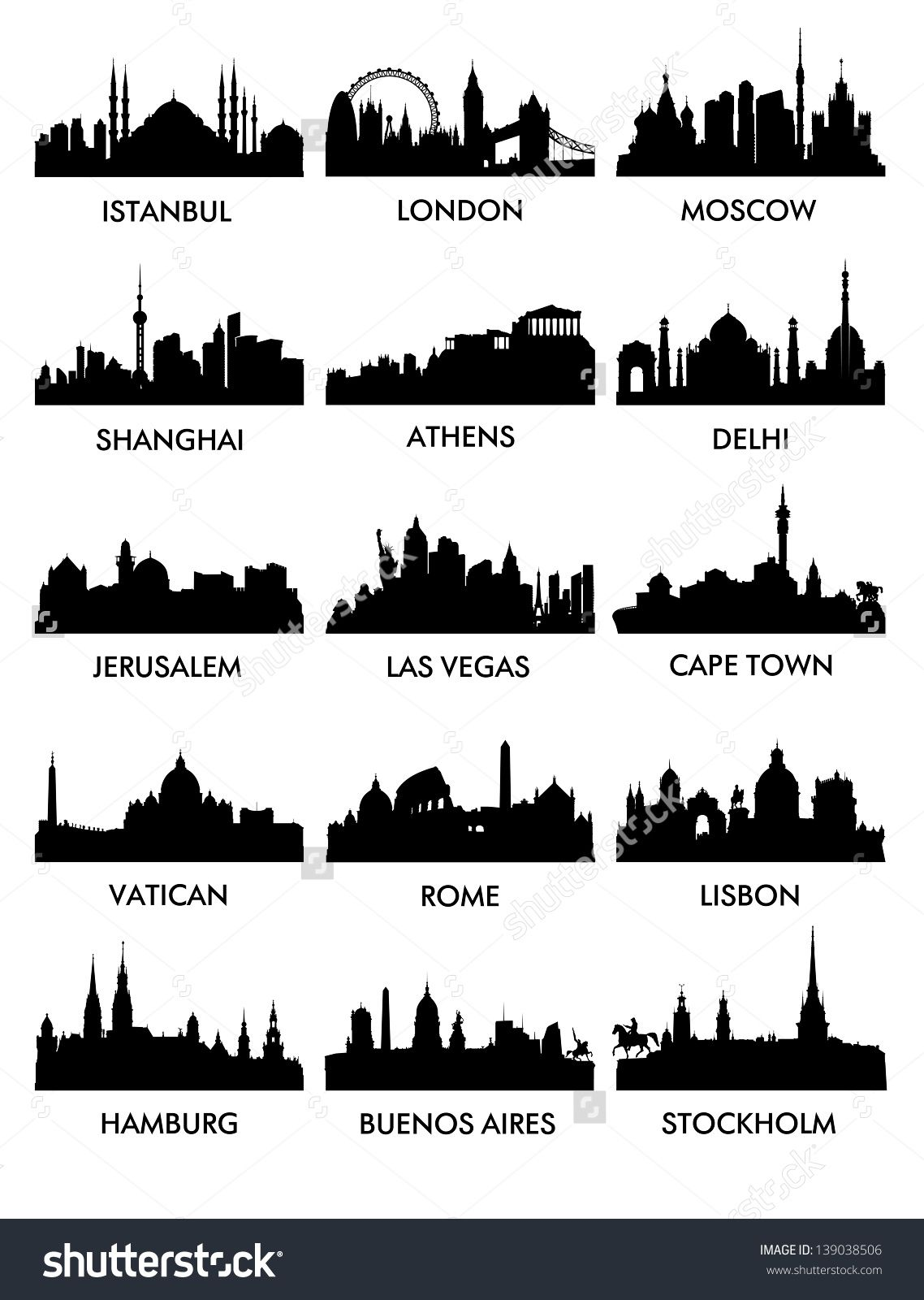 city silhouette vector3 15 mecque pinterest carnets voyages et dessin. Black Bedroom Furniture Sets. Home Design Ideas
