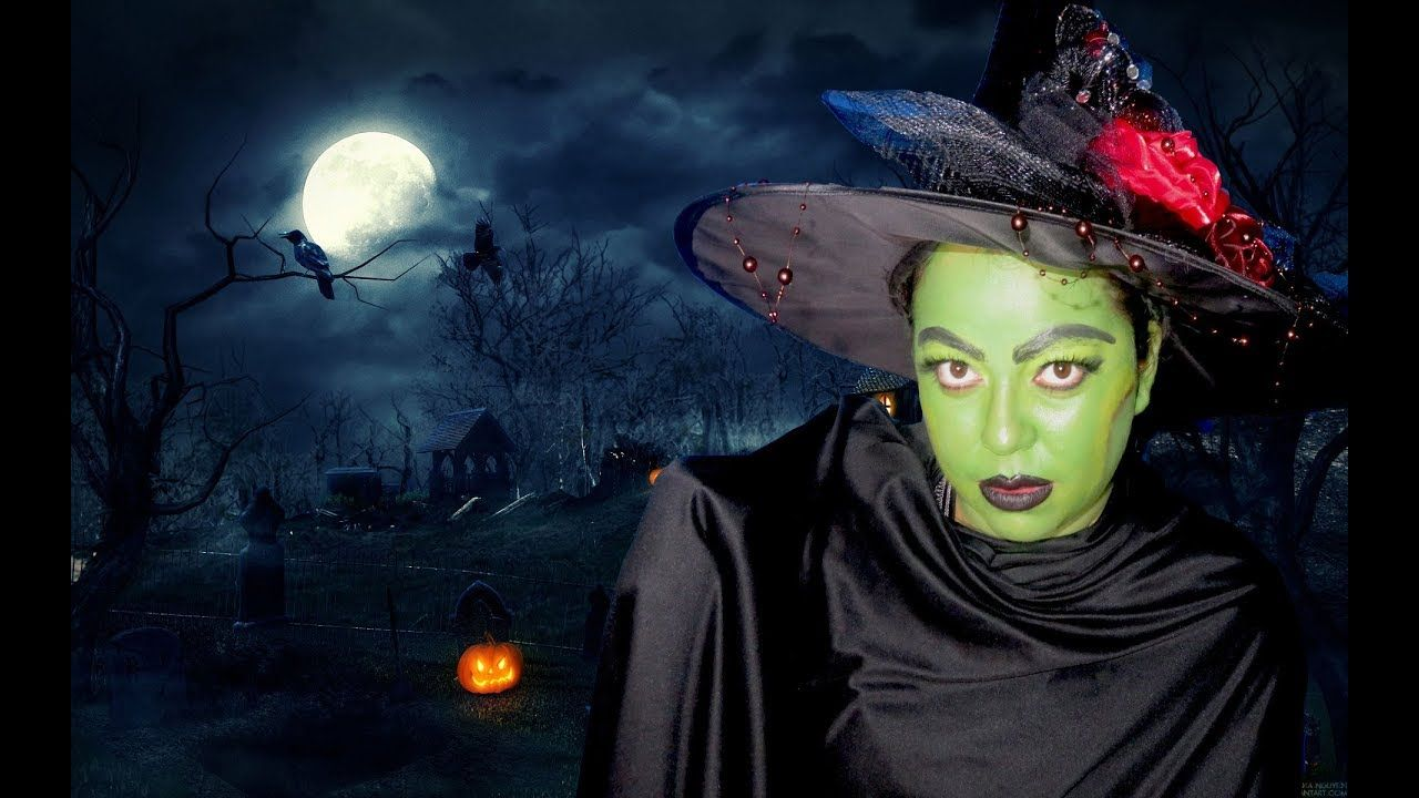 Maquillaje de bruja para HALLOWEEN o para una fiesta de DISFRACES