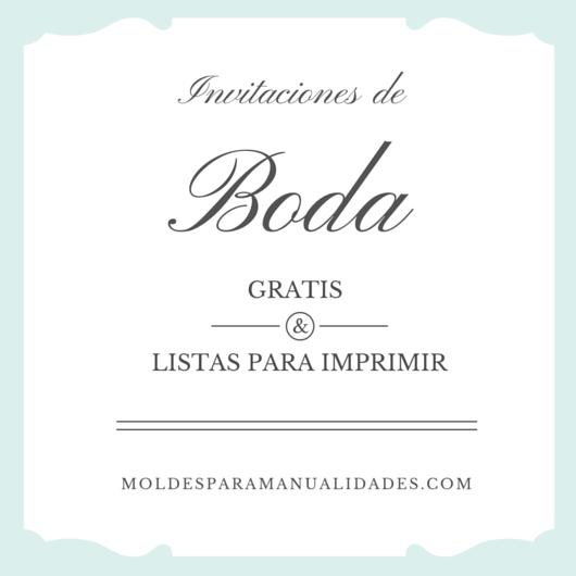 Modelos De Invitaciones De Boda Gratis Art Craft