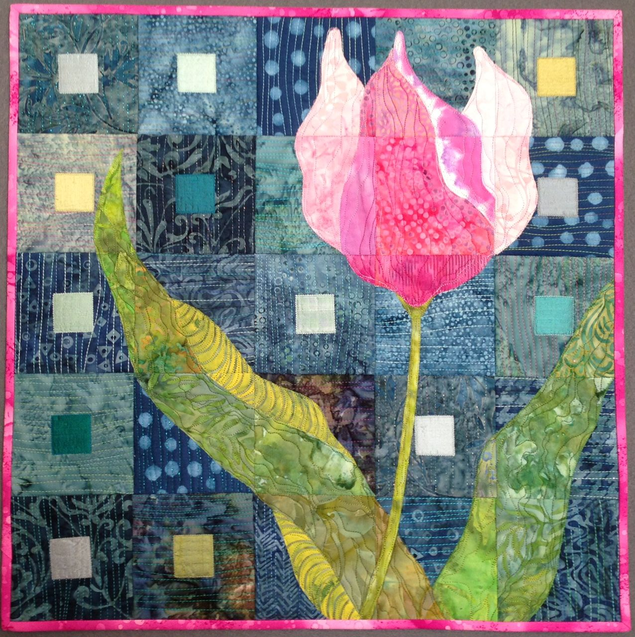 Tulip Quilt by Terry Kramzar, workshop, Mid-Appalachian Quilters ... : appalachian quilts - Adamdwight.com