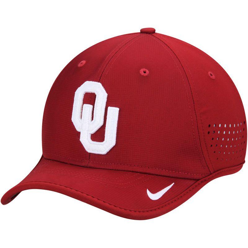 Oklahoma Sooners Nike Coaches Sideline Vapor Performance Adjustable Hat - Crimson