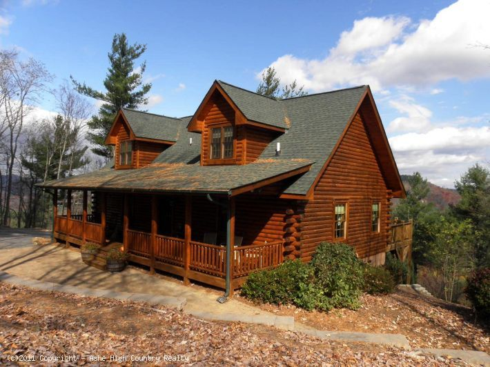 Nc Mountain Log Cabin For Sale New River Access Jefferson