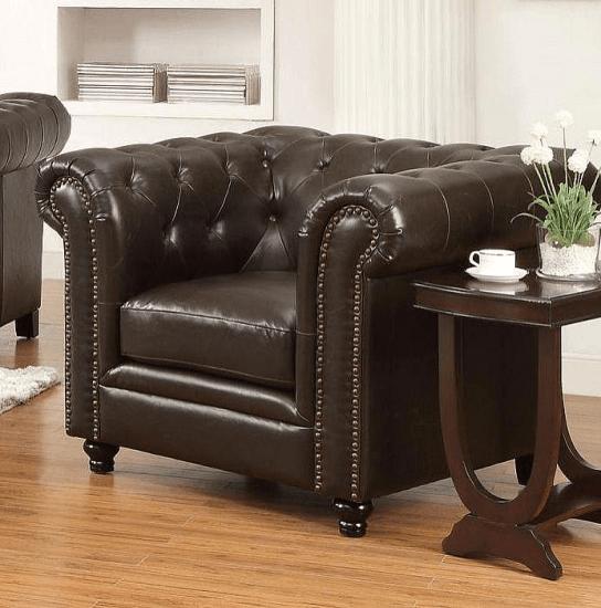 52b5b803befd Desid ria Chesterfield Chair Upholstery  Brown  furniture  furnishings