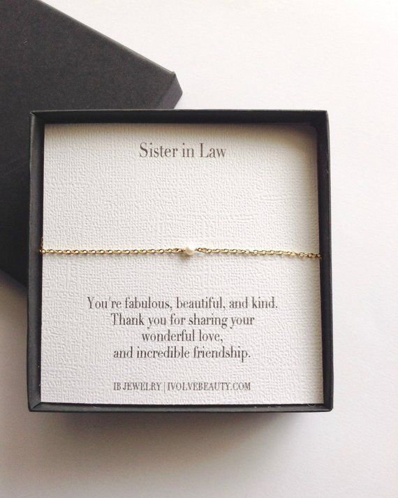 Sister In Law Gift Tiny Pearl Bracelet Birthday Future Sis