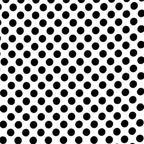 "Tela de algodón cepillado 4m Negro blanco lunares einem Tela 58/"""