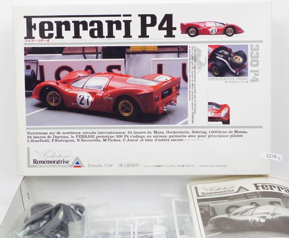 Union Ferrari P4 330 1 24 Scale Car Plastic Model Kit No Mc73 Japan Union Plastic Model Kits Model Kit Ferrari