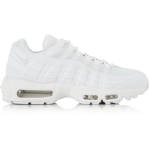 new product 3f609 3a9bb Nike Air Max 95 Trainers (€135) ❤ liked on Polyvore featuring shoes,  sneakers, white, white lace up shoes, nike footwear, nike sneakers, laced  shoes and ...